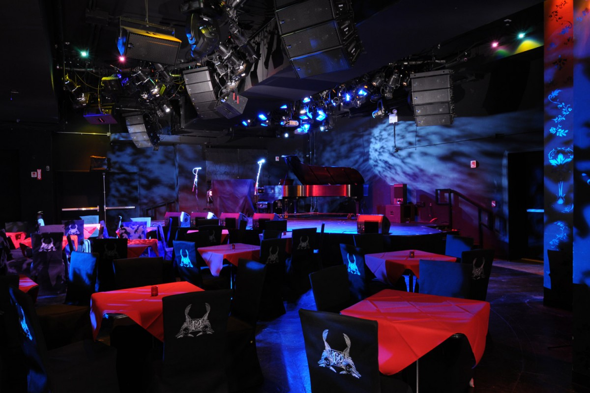 Performance space theater av installations masque sound for Poisson rouge